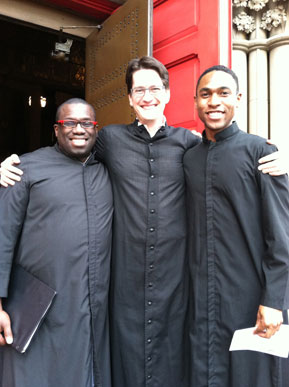 Malcolm J. Merriweather with tenor, John Kawa and bass Joe Damon Chappel