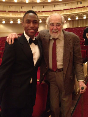 Malcolm J. Merriweather with Robert De Cormier, Music Director Emeritus of the New York Choral Society.
