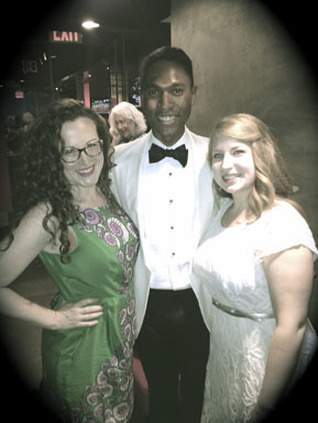 Malcolm J. Merriweather posses with soprano, Sharon Harms and mezzo-soprano Clara Nieman following a Summer Sing concert